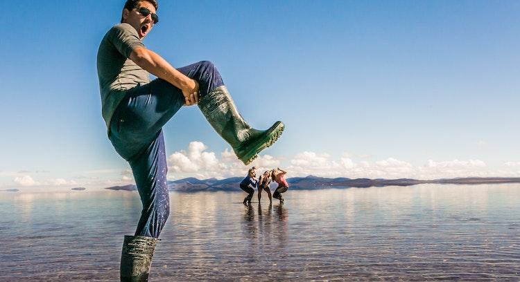 Efeito da água Salar de Uyuni