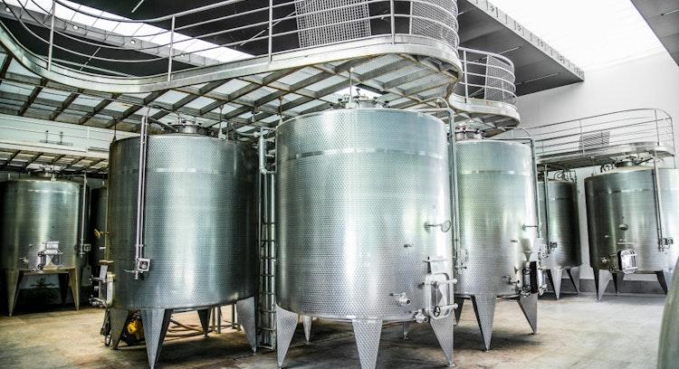 Estanques de vino Undurraga en Chile