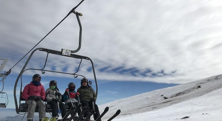 People in La Parva lifts