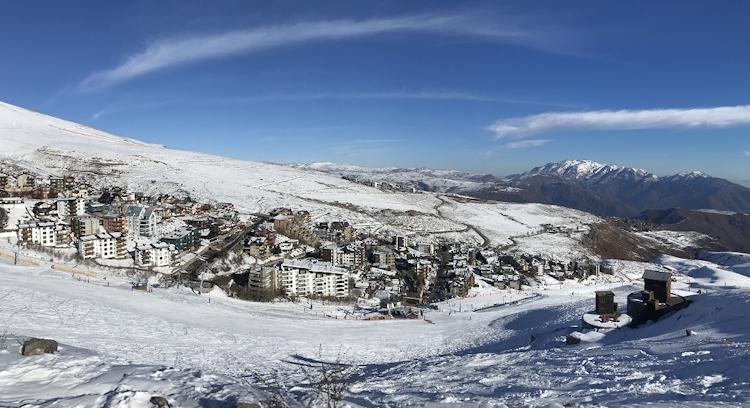 Niños en clases de Esqui en La Parva