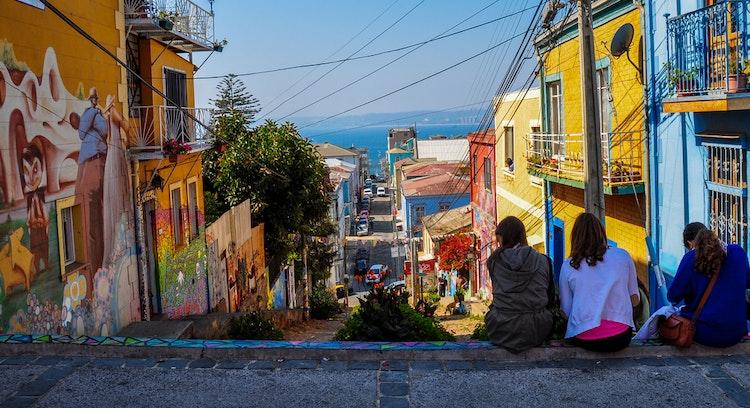 Personas en Valparaíso Chile