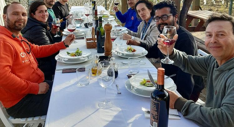 Almoço em vinhedo Ventisquero