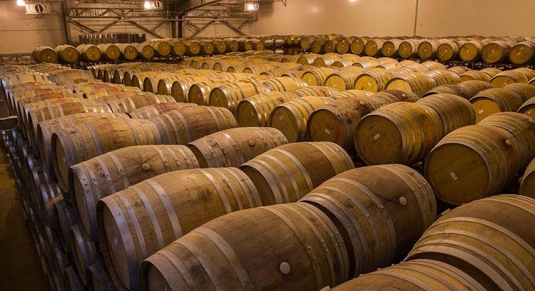 Barricas de viña Ventisquero