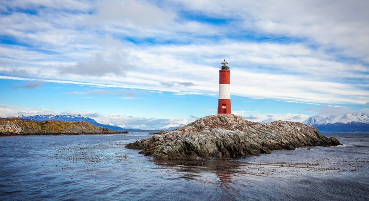lighthouse island in Ushuaia