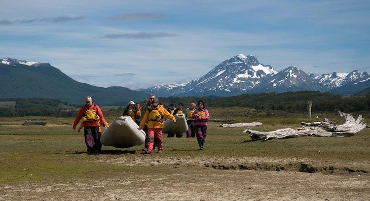 Canoes in Tierra del Fuego Ushuaia