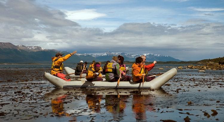 Canoes in Ushuaia
