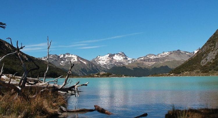 Laguna Esmeralda despejado en Ushuaia