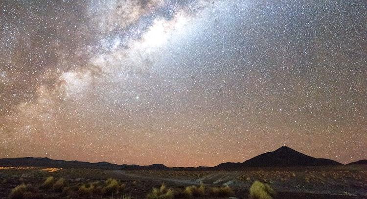 Vía Láctea sobre Salar de Uyuni