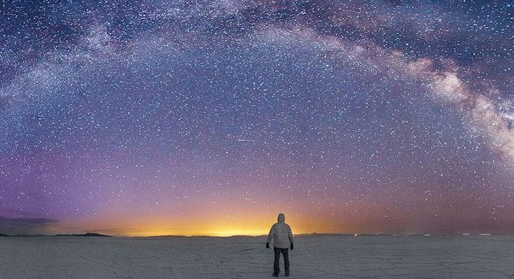 Vía Láctea sobre el Salar de Uyuni
